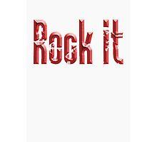 ROCK, Rock music, Rock it, Red, Rock & Roll, Rock Music, Rock band, Rockers Photographic Print