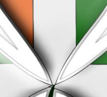 Ireland Flag Colours Shamrock Leaves Sticker