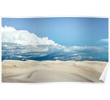 Sand Dune Under a Cloudy Sky Poster