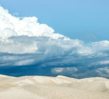 Sand Dune Under a Cloudy Sky Sticker