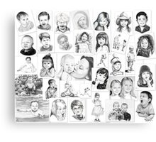 Pencil drawings by commission Canvas Print