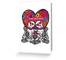 Lovely Bones Valentine Greeting Card