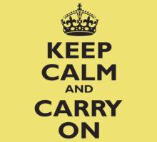 KEEP CALM, Keep Calm & Carry On, Be British! Blighty, UK, United Kingdom, Black on white Kids Tee