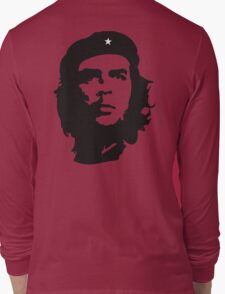 Che, Guevara, Rebel, Revolution, Marxist, Revolutionary, Cuba, Power to the people! Black on Red Long Sleeve T-Shirt