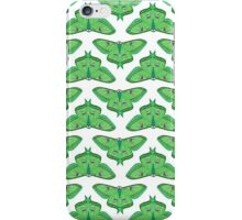 Luna Moth // botanical nature green large moths andrea lauren  iPhone Case/Skin