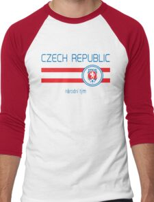 Euro 2016 Football - Czech Republic (Away White) Men's Baseball ¾ T-Shirt