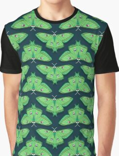 Luna Moth // botanical nature woodland butterfly moth andrea lauren  Graphic T-Shirt