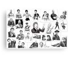 pencil portraits on commission Canvas Print