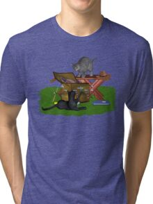 Cats a Fishing Tri-blend T-Shirt