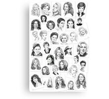 pencil portraits by commission Canvas Print