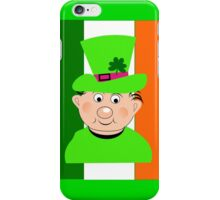 Paddy The Funny Irish Leprechaun iPhone Case/Skin