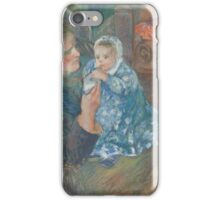 Camille Pissarro MOTHER AND CHILD (SON AND JULIE PISSARRO LUDOVIC RODO-RUDOLPHE DIT) iPhone Case/Skin
