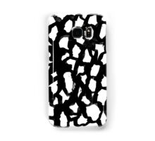 Rosanthe - black and white minimal modern abstract painting design hipster brushstrokes india ink Samsung Galaxy Case/Skin