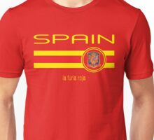 Euro 2016 Football - Spain (Home Red) Unisex T-Shirt