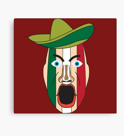 Angry Mexican face Canvas Print