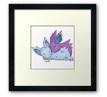 Nidoran Cuddles Framed Print