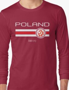 Euro 2016 Football - Poland (Away Red) Long Sleeve T-Shirt