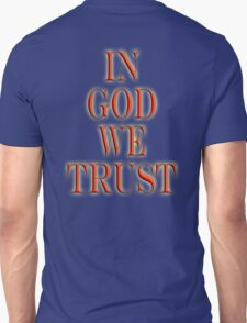 AMERICA, In God we trust, American, Religion, Official Motto, USA Unisex T-Shirt