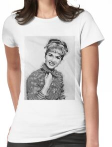 Debbie Reynolds Hollywood Actress Womens Fitted T-Shirt