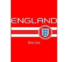 Euro 2016 Football - England (Away Red) Photographic Print