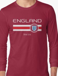 Euro 2016 Football - England (Away Red) Long Sleeve T-Shirt