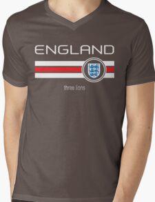 Euro 2016 Football - England (Away Red) Mens V-Neck T-Shirt