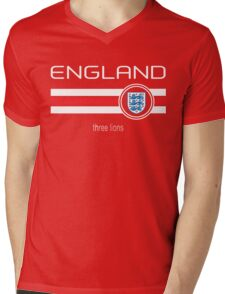 Euro 2016 Football - England (Away Red) Mens V-Neck T-Shirt
