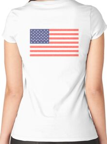 AMERICAN FLAG, FADED, AMERICA, USA, STARS & STRIPES, PURE & SIMPLE Women's Fitted Scoop T-Shirt