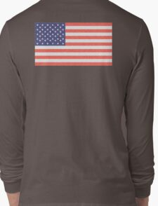AMERICAN FLAG, FADED, AMERICA, USA, STARS & STRIPES, PURE & SIMPLE Long Sleeve T-Shirt