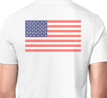 AMERICAN FLAG, FADED, AMERICA, USA, STARS & STRIPES, PURE & SIMPLE Unisex T-Shirt