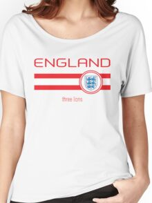 Euro 2016 Football - England (Home White) Women's Relaxed Fit T-Shirt