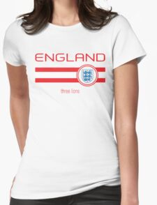 Euro 2016 Football - England (Home White) Womens Fitted T-Shirt