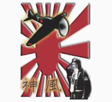 WAR PLANE, ZERO, JAPAN, Kamikazi, Zero Pilot, Japanese, World War Two, WWII, Kids Tee