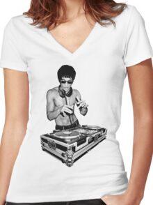 Dj I love Women's Fitted V-Neck T-Shirt