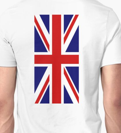 British, Union Jack Flag, 1;2, UK, GB, Blighty, United Kingdom, Portrait, Pure & simple  Unisex T-Shirt