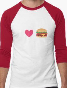 Burger Lovin' Men's Baseball ¾ T-Shirt