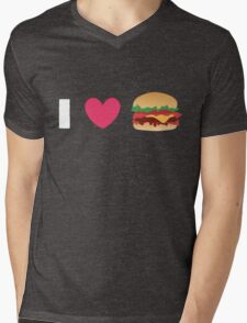 Burger Lovin' Mens V-Neck T-Shirt
