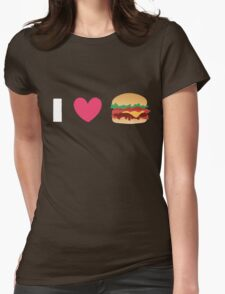 Burger Lovin' Womens Fitted T-Shirt