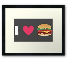 Burger Lovin' Framed Print