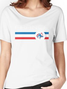 Euro 2016 Football - France (Home Blue) Women's Relaxed Fit T-Shirt