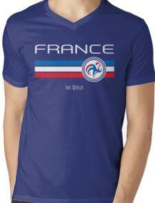 Euro 2016 Football - France (Home Blue) Mens V-Neck T-Shirt