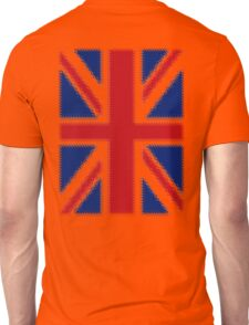Union Jack, Shakey, Razzle Dazzel, Bling, UK, GB, Flag, British, Britain, Ripple effect. Unisex T-Shirt