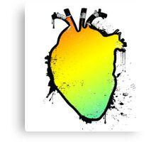 rainbow anatomical heart Canvas Print