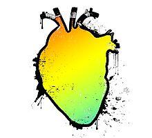 rainbow anatomical heart Photographic Print