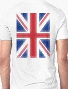Union Jack, HALFTONE, Flag, Portrait, British Flag, Blighty, GB, UK,  Unisex T-Shirt