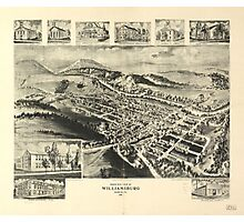 Birds eye view of Williamsburg Pennsylvania (1906) Photographic Print