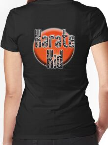 KARATE, Karate Kid, Japanese, JAPAN, MMA, Rising Sun background Women's Fitted V-Neck T-Shirt