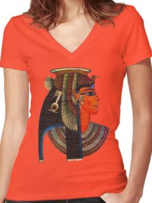 Cleopatra Women's Fitted V-Neck T-Shirt