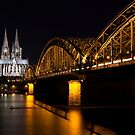 Cologne at Night by Johannes Valkama