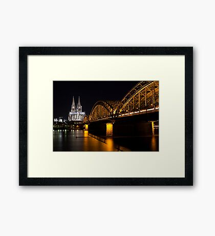 Cologne at Night Framed Print